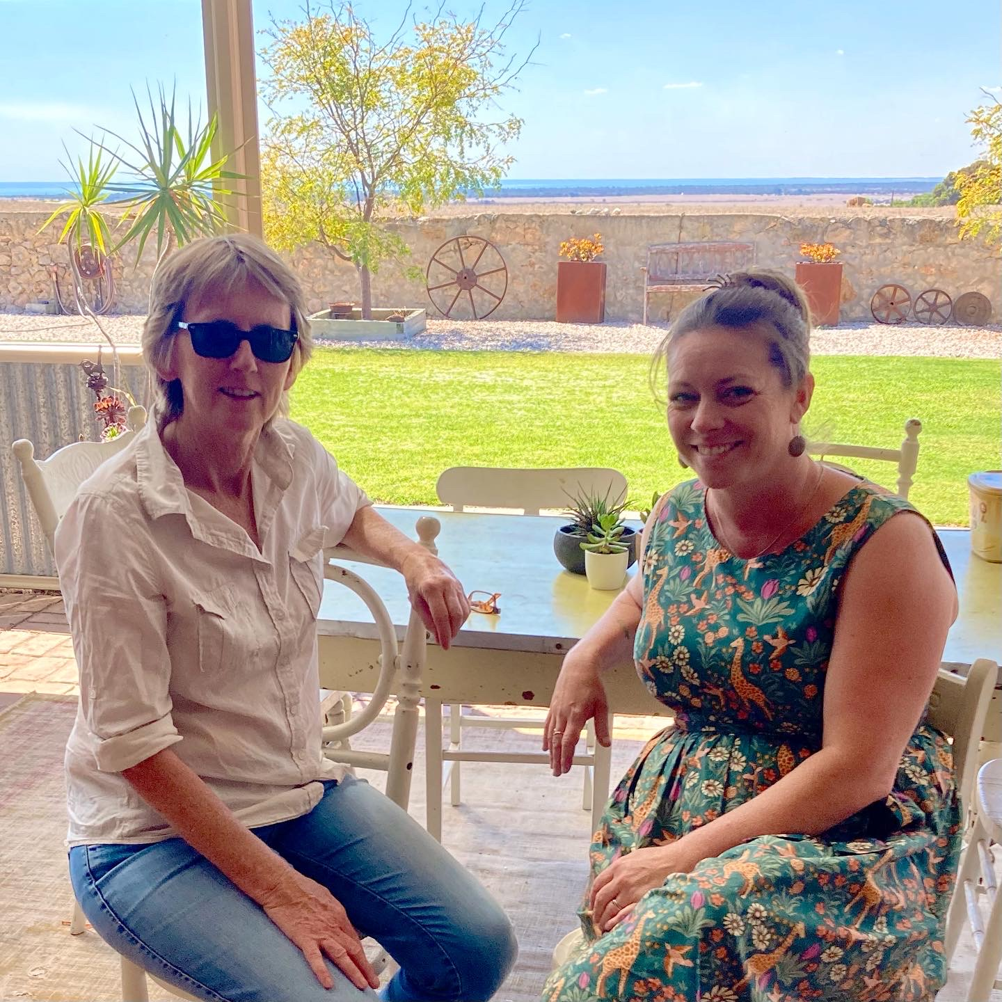 Steph Ball, Owner Ballara Art & Lifestyle Retreat and Jasmine Swales, Discovery Workshop Program Manager